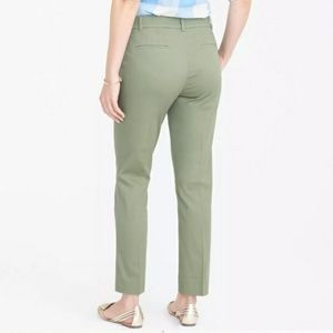 J. Crew Olive Green Skimmer Ankle Cropped Pants Cotton
